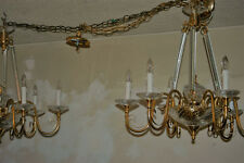 Beautiful 6 Light Vintage Italian Chrystal Chandeliers