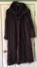 Ottawa Fur Purple Tanuki Raccoon Fur  Coat Large L