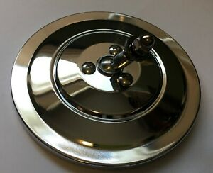 """Chrome RIBBED 5"""" round truck mirror head vintage look Chevy Ford Dodge FREE ship"""