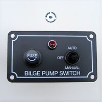 AAA MARINE FUSED BILGE PUMP SWITCH PANEL 12V BLACK (Horizontal) – BOAT YACHT