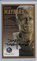 Don Maynard Pro Football Hall of Fame Autographed Bronze Bust Card 100/150