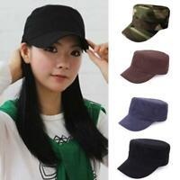 Männer Frauen beiläufige Adjustable Armee Plain Hat Cadet Baseball Sport Cap