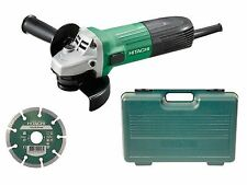Hitachi G12stx/j8 115mm Angle Grinder Diamond Blade & Case 600 Watt 110 Volt