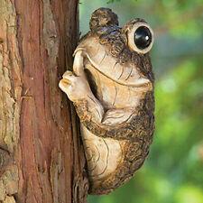 Quiet Frog Animal Toad Tree Peeker Sculpture Animal Tree Hugger Resin Ornament