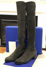 NIB Stuart Weitzman Allserve Over The Knee OTK Boot Gray Slate Suede 9 $765