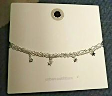 with Star Charms Silver Tone Anklet