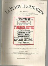 LA PETITE ILLUSTRATION N°225 - L'AMOUREUSE AVENTURE - COMEDIE EN 3 ACTES