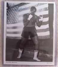 RARE Buster Mathis (died '95) signed 8x10 B/W photo Boxing Muhammad Ali Opponent