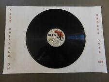 "10"" 78 RPM ARTHUR E. OLT OLT'S FOX CALLING GAME AND BIRD CALLS FIELD RECORDINGS"