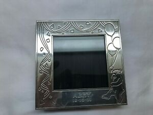 VINTAGE TIFFANY & CO STERLING SILVER 4 x 4 PICTURE FRAME TEDDY BEAR BALOONS MONO
