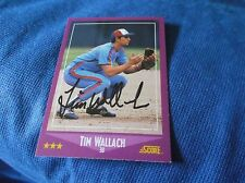 Tim Wallach Montreal Expos 1988 Score Autographed Baseball Card