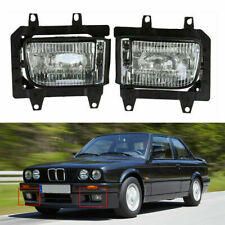 For BMW E30 3-Series 1982-1987 1986 2x Front Bumper Fog Lights Lamps Housing