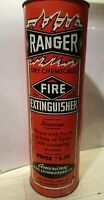 Vintage Unused Ranger Dry Chemicals American Fire Extinguisher with Pry-Off Lid