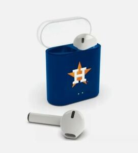HOUSTON ASTROS MLB TRUE WIRELESS BLUETOOTH EARBUDS WITH CHARGING CASE HEADPHONES