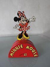 Selten! Minnie Maus Spardose aus Holz !