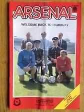 Arsenal v Southampton 1985/86 programme