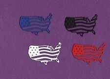 USA FLAG die cuts scrapbook cards
