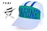 Anime One Piece Marine Cosplay Hat Baseball Stripe Summer Sports Adjustable Cap