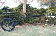"""Ez Entry Horse Cart - Cob & Full Size w/Steel """"C"""" Springs w/23"""" Motorcycle Tires"""