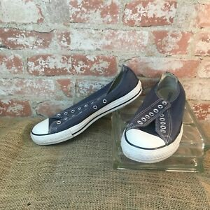 Converse CHUCK TAYLOR All Star Low Top Unisex Blue Canvas Sneakers USED Mens 9