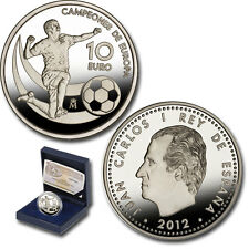 España 10  euro 2012  plata proof CAMPEONES DE EUROPA 2012 FUTBOL - FIFA