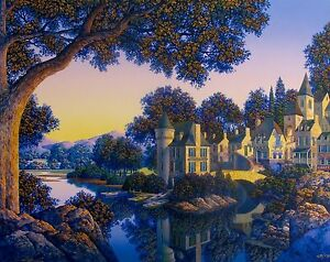 "JIM BUCKELS ""HOTEL de L'ECLUSE"" Hand Signed Limited Editon Serigraph Fine Art"