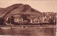 ALLEMAGNE DEUTSCHLAND ASSMANNSHAUSEN-SUR-RHIN hôtel krone péniche écrite 1949