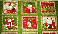 "Ho Ho Holiday Santa Mumm Christmas Fabric Panels 23""  #67445"