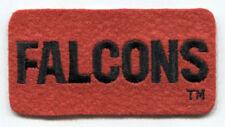 "ATLANTA FALCONS NFL FOOTBALL 3.5"" RECTANGLE TEXT PATCH"
