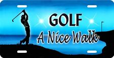Men's Golf Auto License Plate Personalize Gifts Men Many Colors Male Golfer