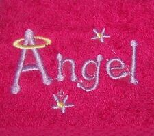 """""""PERSONALIZED EMBROIDERED ANGEL FACE CLOTH/FLANNEL""""100% COTTON"""