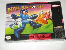 Mega Man Soccer  (Super NES, 1994) Nintendo SNES NEW Factory Sealed *corner
