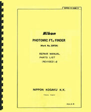 Nikon Photomic FTn Finder Service & Repair Manual