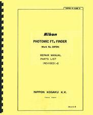 Nikon Photomic FTn Finder Service & Repair Manual