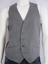 Blaq Mens Tailored Button Down Waistcoat Vest sizes Medium Large XL Colour Grey