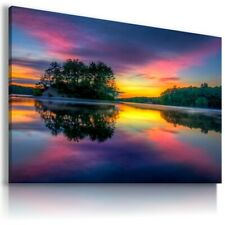 PARADISE SUNSET AFRICA View Canvas Wall Art Picture L187 MATAGA  NO FRAME-ROLLED