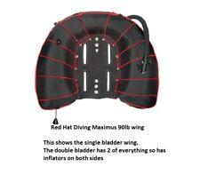 Red Hat Diving. 90/90lb doppio Vescica Maximus Wing. NUOVO