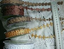 Mixed Satin Garland 15 to 18mm Wide 1&2 Metres 5 Colour/Styles Choice Cld1&3