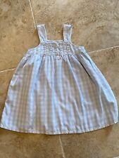 Petite Plume Girl's Size 3 Charlotte Nightgown Light Blue Gingham Sleeveless