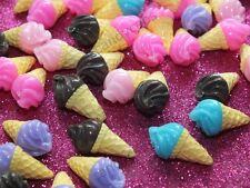 5 Pcs Cute Whippy Ice Cream Cone Food Mixed Flatback Cabochon Craft DIY Decoden