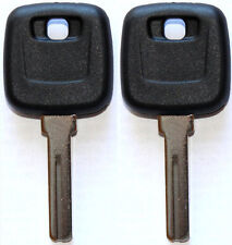 2 NEW FOR VOLVO S90 V90 S70 C70 V70 MASTER TRANSPONDER UNCUT CHIPPED KEY BLANK