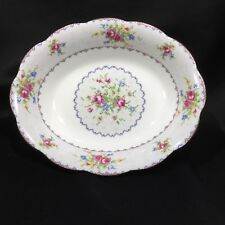 "Royal Albert Petit Point Oval Vegetable Bowl 9 1/4"" Serving Fine China England"