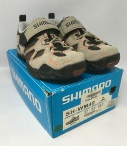 SHIMANO SH-WM40 Women's MTB SPD Spinning Shoes EU 37 US 5.5 Beige MSRP $80