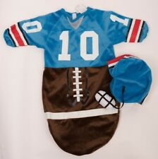 Rubies Football Player Halloween Costume Blue Bunting & Helmet Baby Newborn