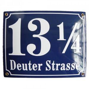 Personalised enamel address plaque 25x30cm WARRANTY 10y house sign number street