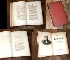 Aventures de Lyderic et chroniques 1842 Alexandre Dumas rare édition originale