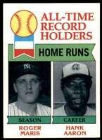 1979 Topps Roger Maris Hank Aaron New York Yankees #413