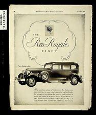 1930 Reo Royale Eight Car Co Vintage Print Ad 17073