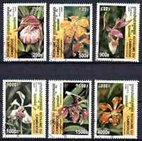 Flora - Orquideas Camboya (24) conjunto completo de 6 sellos matasellados