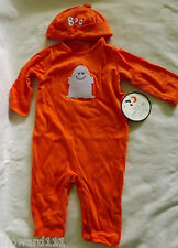 NWT Pottery Barn Kids Baby Halloween Ghost Costume with Hat Size 6-12 Months